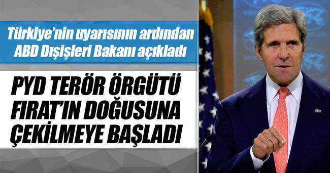 ABD Dışişleri Bakanı Kerry: PYD Fırat'ın doğusuna çekilmeye başladı