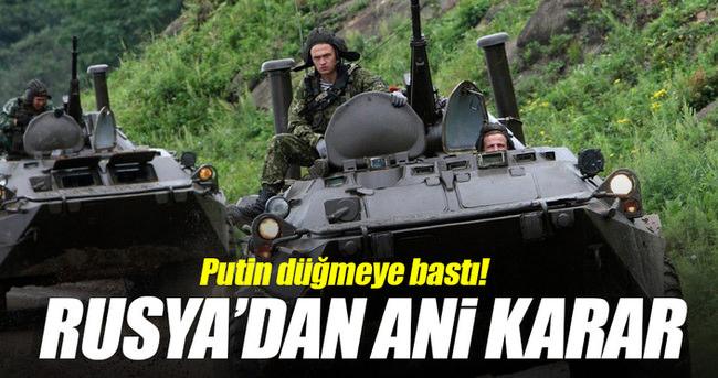 Rus ordusu ani tatbikat başlattı