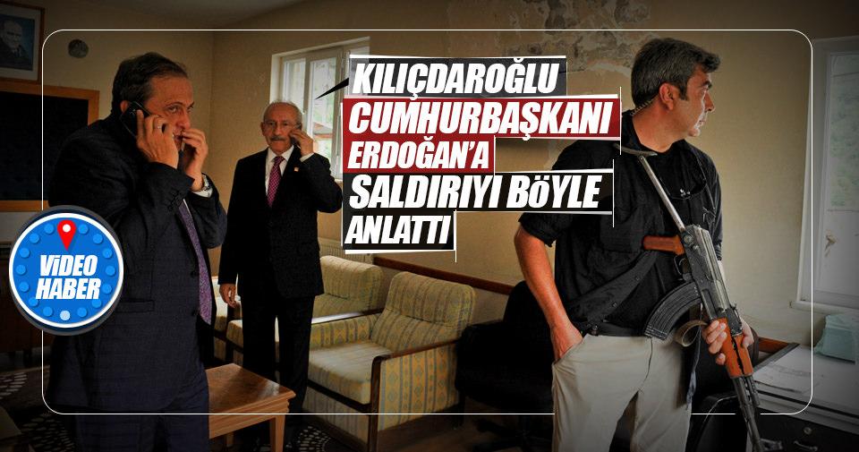 Saldırıyı Erdoğan'a böyle anlattı!