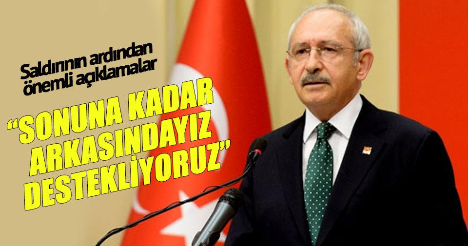 Kemal Kılıçdaroğlu: Sonuna kadar destekliyoruz.
