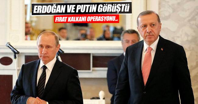 Erdoğan ile Putin görüştü
