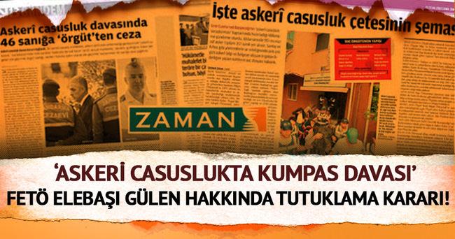 Askeri casusluk davasında Gülen için tutuklama kararı