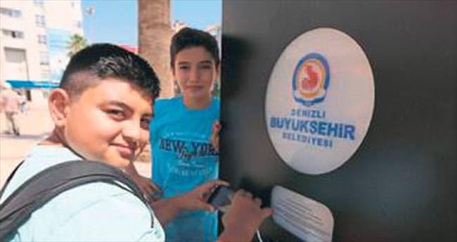 Denizli'de ücretsiz telefon şarj hizmeti