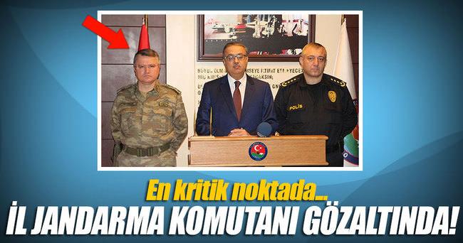 Şırnak İl Jandarma Komutanı Albay Sami Özturhan gözaltına alındı