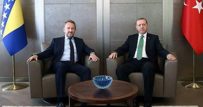 Cumhurbaşkanı Erdoğan, İzzetbegoviç ile görüştü