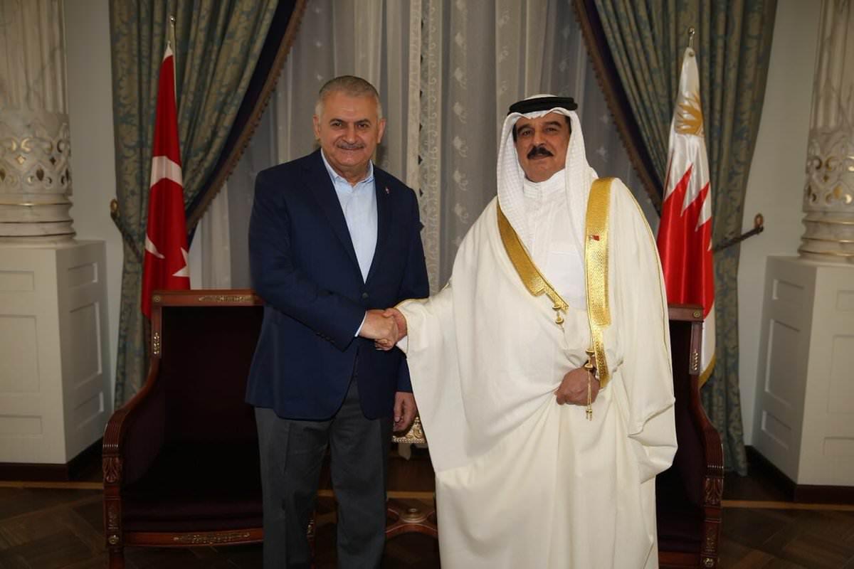 Başbakan Yıldırım Bahreyn Kralı ile görüştü