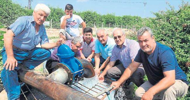 Erdemli'de çiftçilerin sulama suyu sevinci