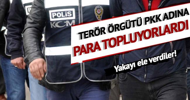 PKK'ya para toplayan 14 örgütçü tutuklandı