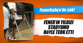 Fenerbahçe'nin yıldızı stadı bu halde terk etti!