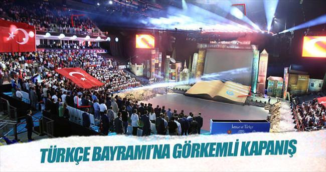 Türkçe Bayramı'na görkemli kapanış