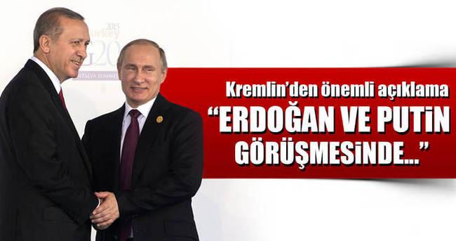 Kremlin'den flaş Erdoğan-Putin açıklaması!