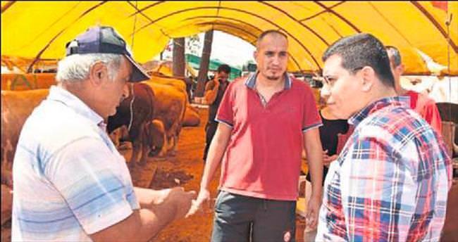 Kepez'de hayvan pazarı hizmette