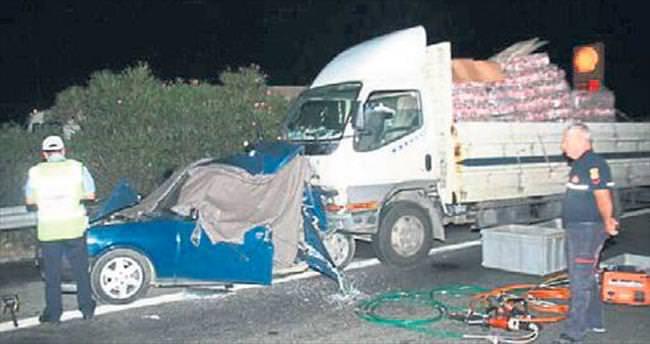 Alkollü kamyonet şoförü dehşet saçtı