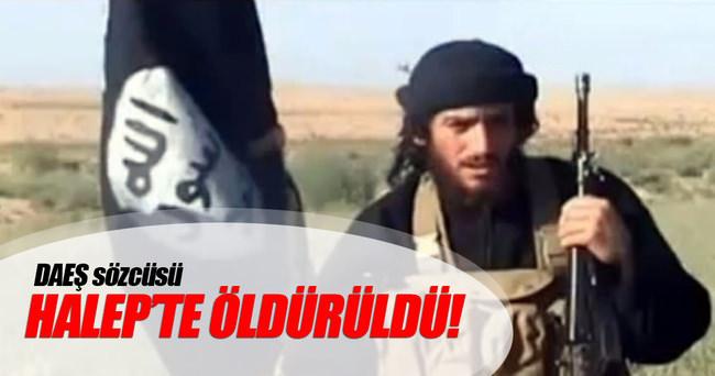 DAEŞ sözcüsü Halep'te öldürüldü!