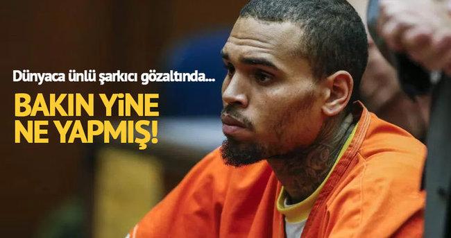 Amerikalı şarkıcı Chris Brown gözaltında