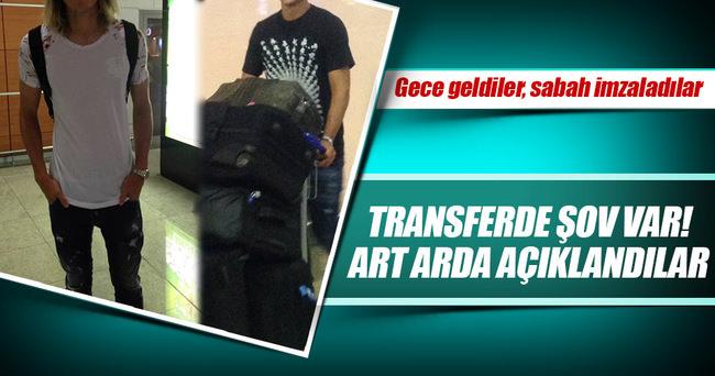 Beşiktaş iki yıldızı İstanbul'a getirdi!