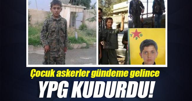 Çocuk askerler gündeme gelince YPG sözcüsü terörist kudurdu!