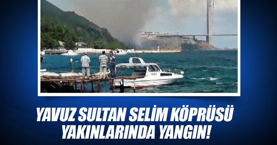 Yavuz Sultan Selim Köprüsü yakınlarında orman yangını