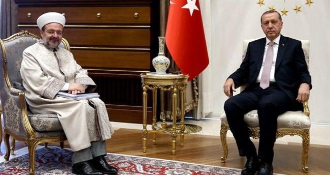 Erdoğan Mehmet Görmez'i kabul etti