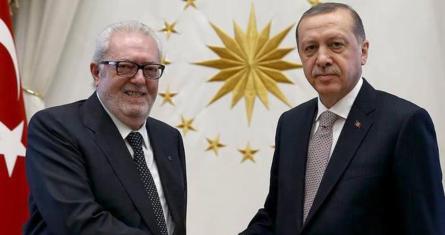 Cumhurbaşkanı Erdoğan AKPM Başkanı Agramunt'u kabul etti
