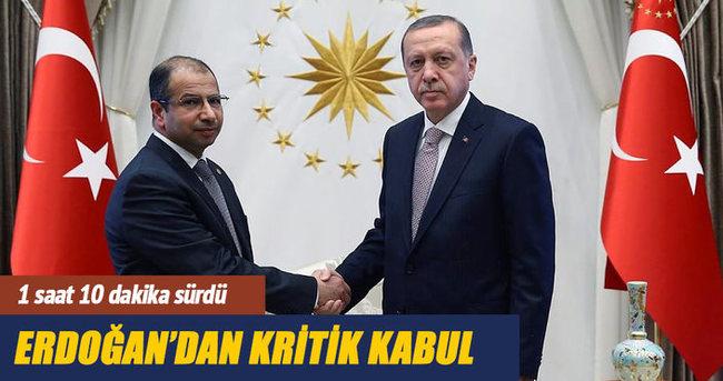 Cumhurbaşkanı Erdoğan Cuburi'yi kabul etti