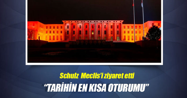 Martin Schulz TBMM'yi gezdi