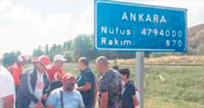 Yozgatlı gönüllüler Ankara'ya ulaştı