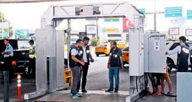 Havalimanı girişine araç tarama sistemi