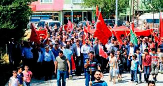"""""""Bitlis'te teröre lanet yürüyüşü"""""""