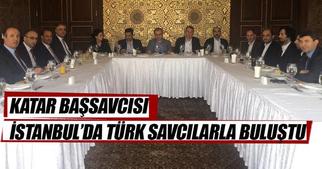 Katar Başsavcısı İstanbul'da Türk savcılarla buluştu