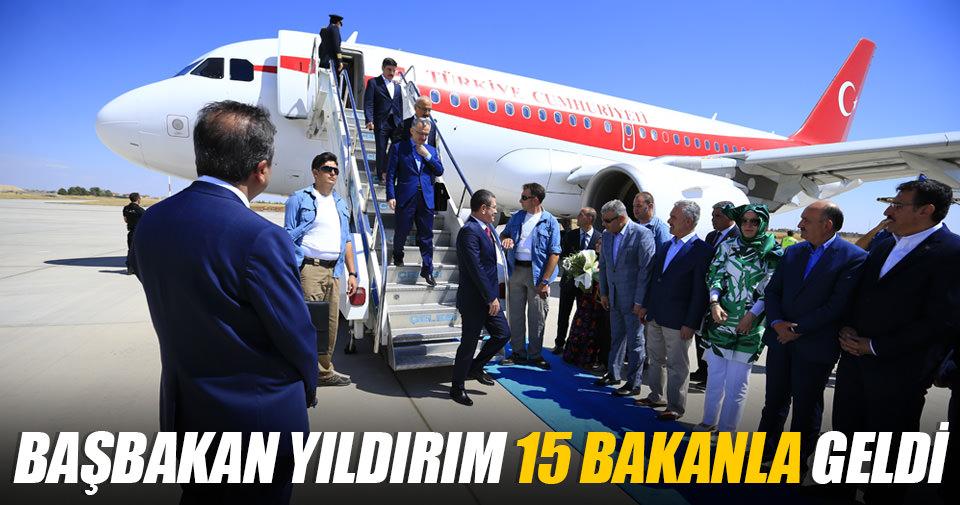 Başbakan Binali Yıldırım Diyarbakır'a geldi