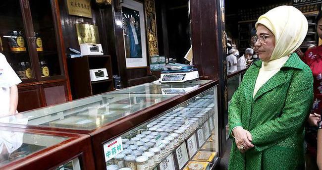 Emine Erdoğan Çin'de tarihi bölgeleri gezdi