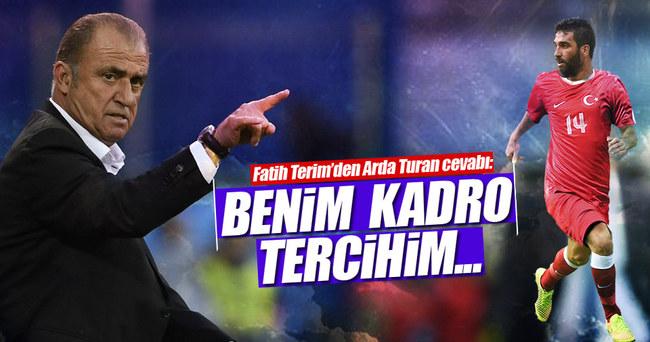 Fatih Terim'den Arda Turan açıklaması!