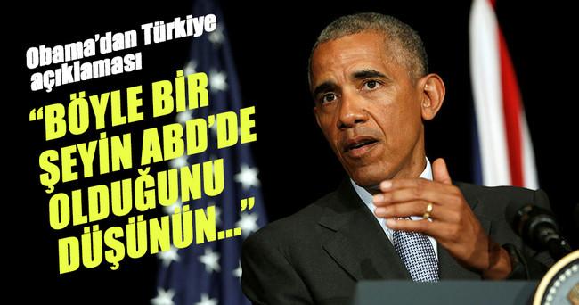Obama: Türk hükümetinin şimdi anlaşılabilir şekilde bir tepkisi var