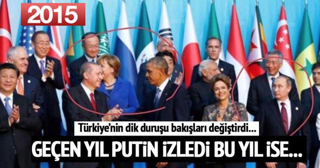 G20 Zirvesi'nde Erdoğan Putin yakınlığı Obama'nın dikkatini çekti