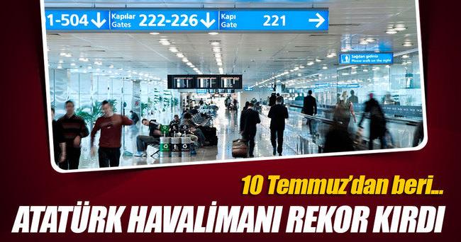 Atatürk Havalimanı'nına yeni rekor