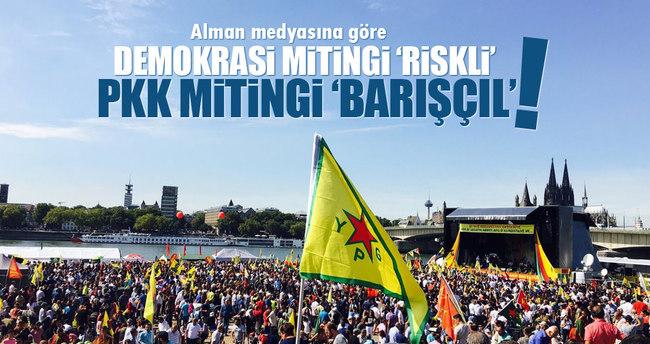 Demokrasi mitingi 'Riskli' PKK mitingi 'Barışçıl'