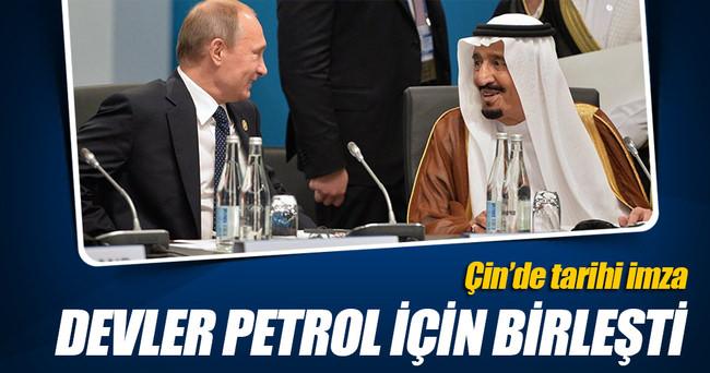 Rusya ve Suudi Arabistan petrolde işbirliği anlaşması imzaladı