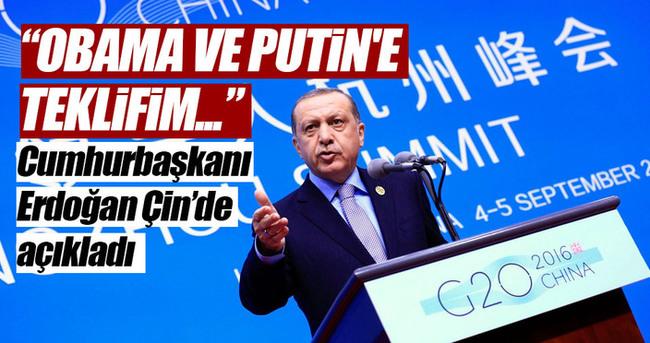 Erdoğan, Obama ve Putin'e teklifini açıkladı