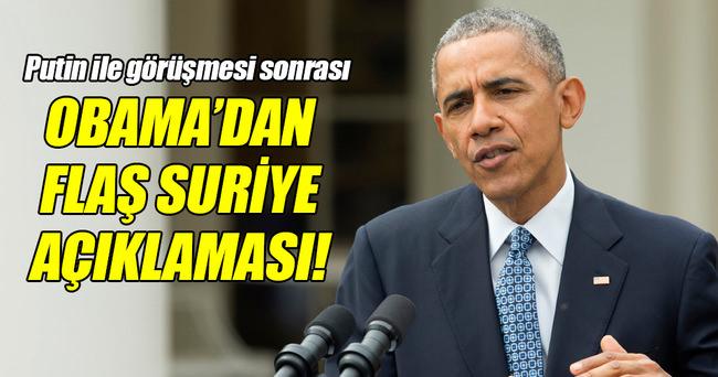 Obama'dan flaş Suriye açıklaması!