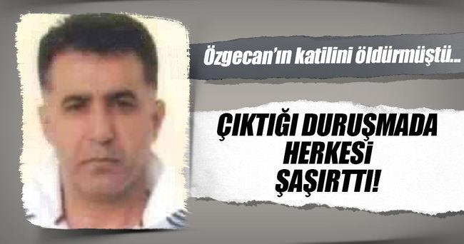 Katilini öldürdüğü Özgecan'ın fotoğrafı olan tişörtle duruşmaya çıktı