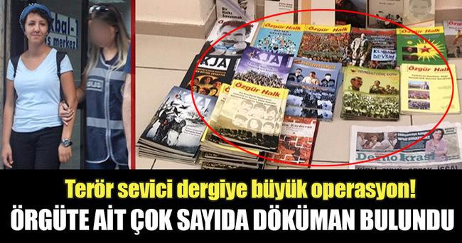 PKK propagandası yapan dergiye operasyon düzenlendi