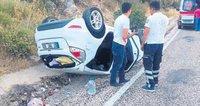 Dikkatsizlik kazası ucuz atlatıldı