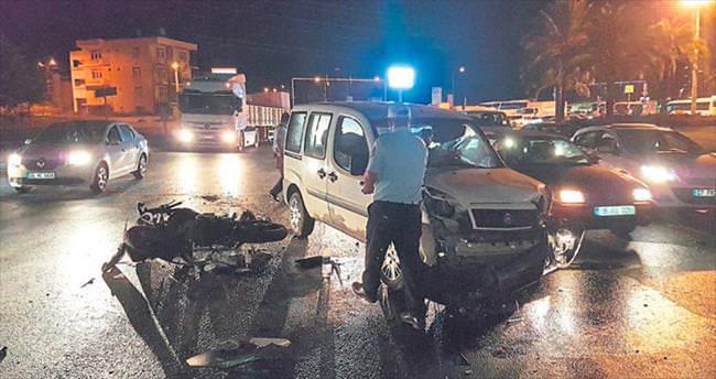 Zincirleme kazada bir kişi yaralandı