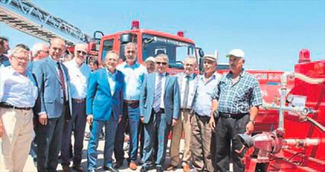 Dursunbey'in köylerine arazöz dağıtımı yapıldı