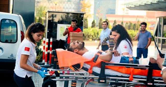 Rezidansta silahlı saldırı: 4 yaralı