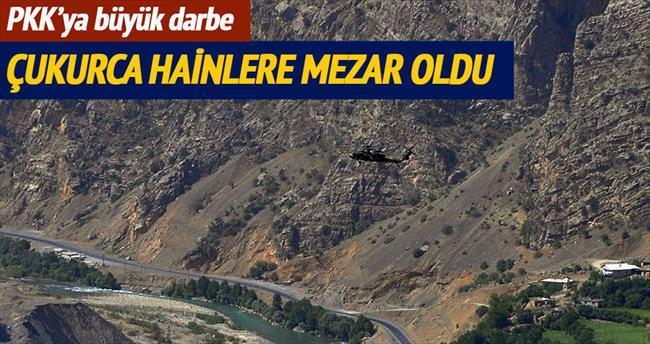 Çukurca'da terör örgütü PKK'ya büyük darbe