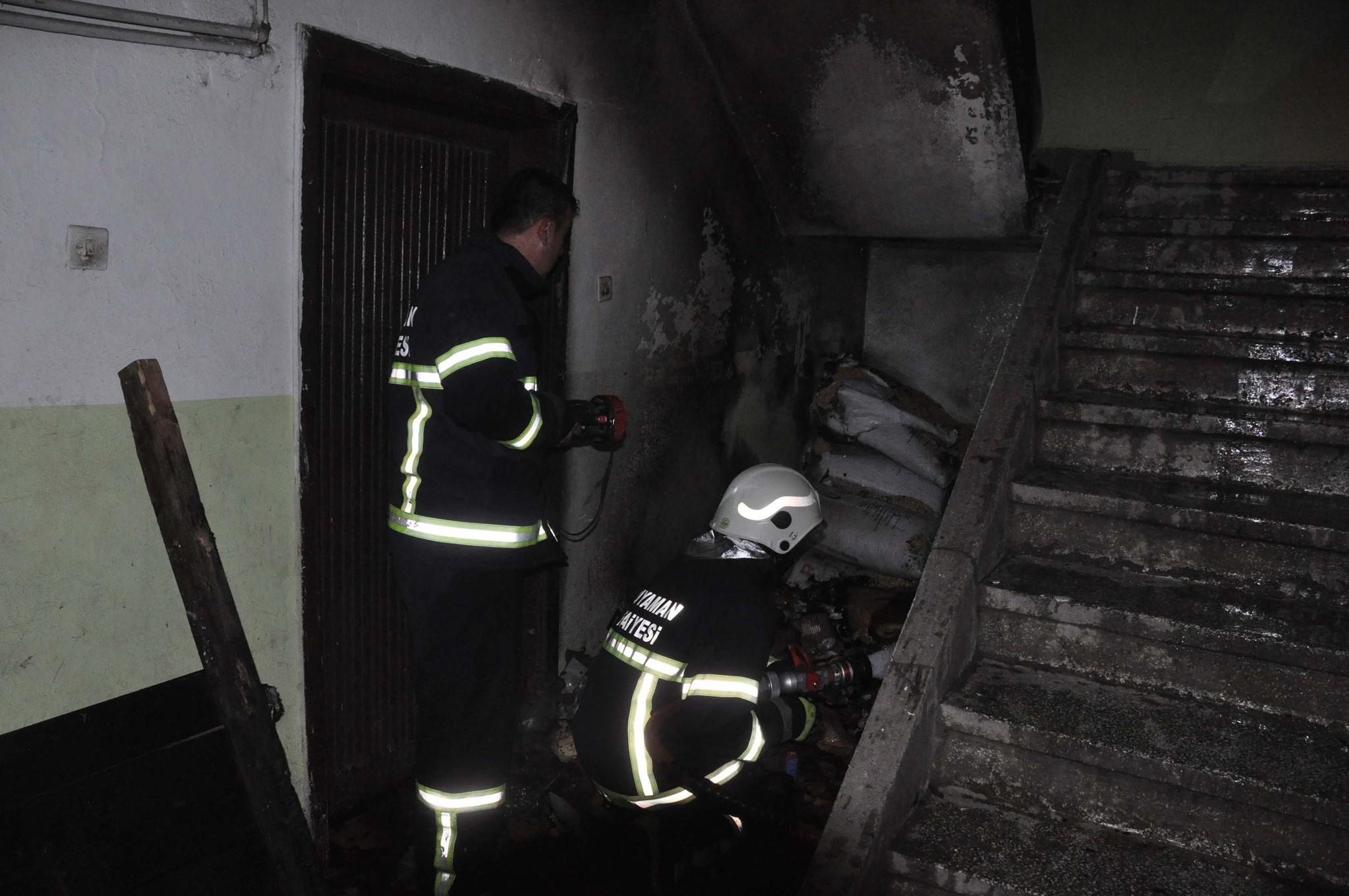Suriyeli sığınmacıların kaldığı evde yangın