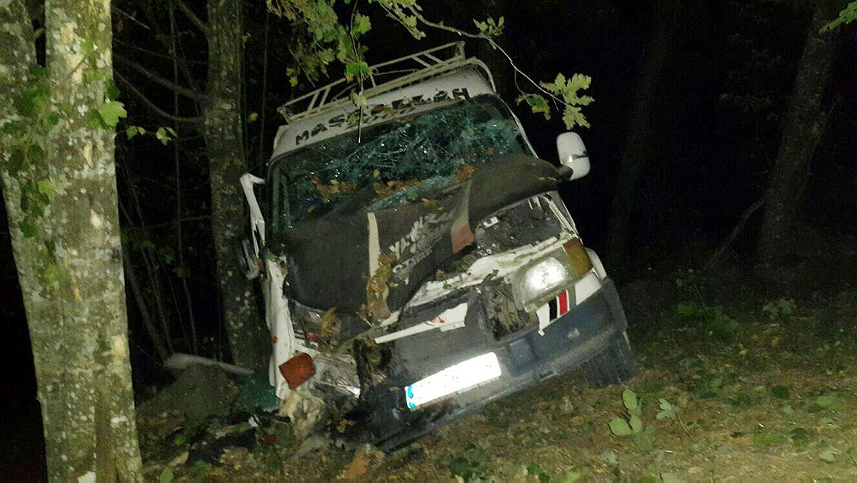Düzce'de minibüs şarampole devrildi 13 yaralı