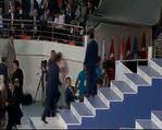Ahmet Davuto�lu kongre salonuna girdi